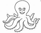 Octopus Coloring Pages Preschool Worksheets Kindergarten Painting Printable Sheets Animals sketch template
