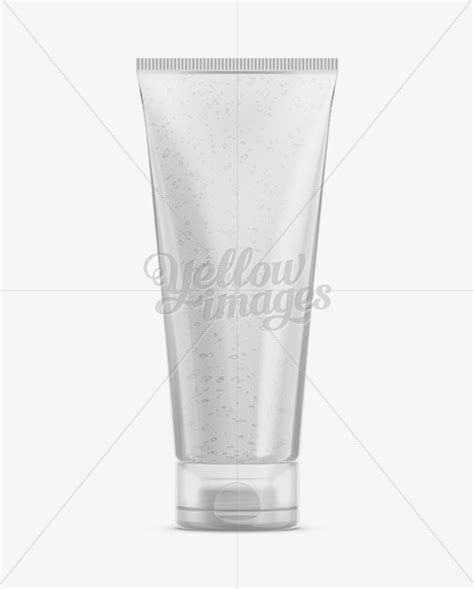 Present your design on this mockup. Download Clear Plastic Face Wash Tube Mockup PSD