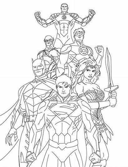 Justice League Coloring Pages Draw Drawing Injustice
