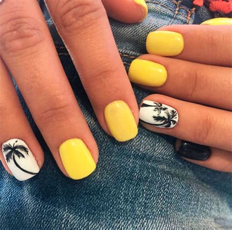 yellow nail art designs  summer  stylish belles
