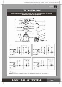 Save These Instructions  Parts Reference