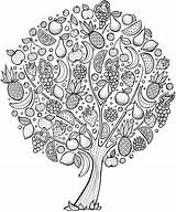 Coloring Tree Fruit Pages Adult Printable Doverpublications Adults Trees Books Mandala Mandalas Dover Publications Cherry Colouring Sheets Ross Bob Doodle sketch template