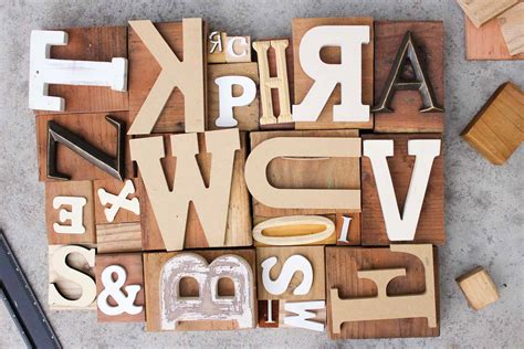 wooden block letters diy wall letterpress print blocks 4 make do crew 15580