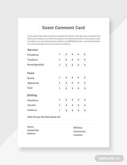 comment cards  word adobe portable documents