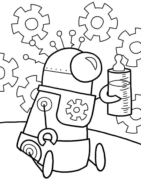 robot coloring pages coloringpages