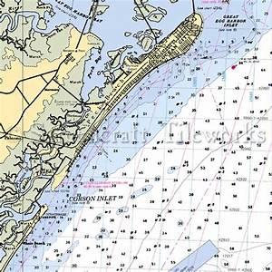 New Jersey - Corson Inlet, Ocean City / Nautical Chart Decor