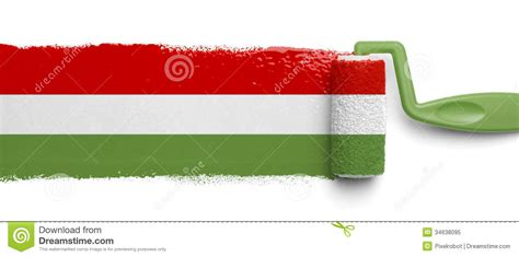 painted mexican flag stock image image of charity