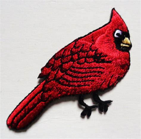 Patch Applique by Cardinal Iron On Bird Patch Applique Ebay