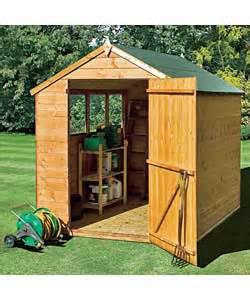 6x8 ft wooden shiplap shed with wide door garden shed