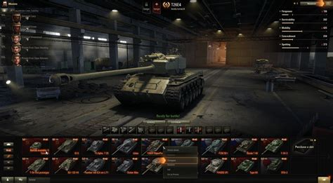 World Of Tanks Garage Mod by World Of Tanks 9 16 Vehicle Comparison In The Garage