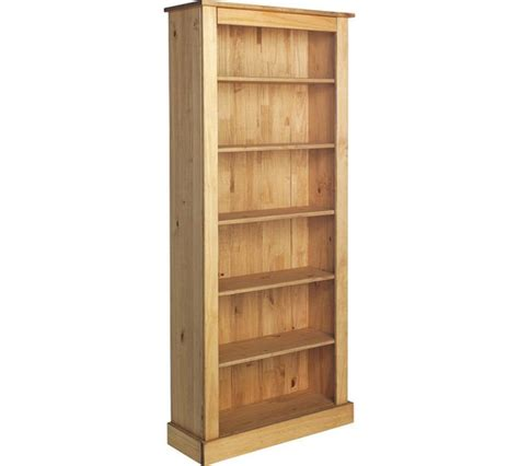 Buy Collection 5 Shelf Tall Wide Extra Deep Solid Pine