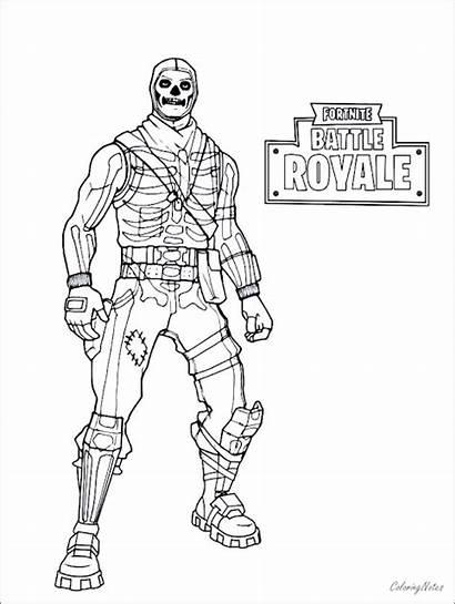 Fortnite Coloring Battle Skins Royale Drift Ice