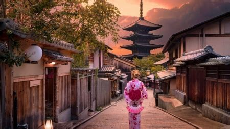 kyoto street  architecture background wallpapers
