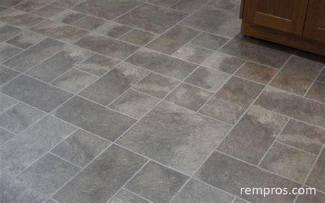 Sheet vinyl flooring   floor installation.   Kitchen