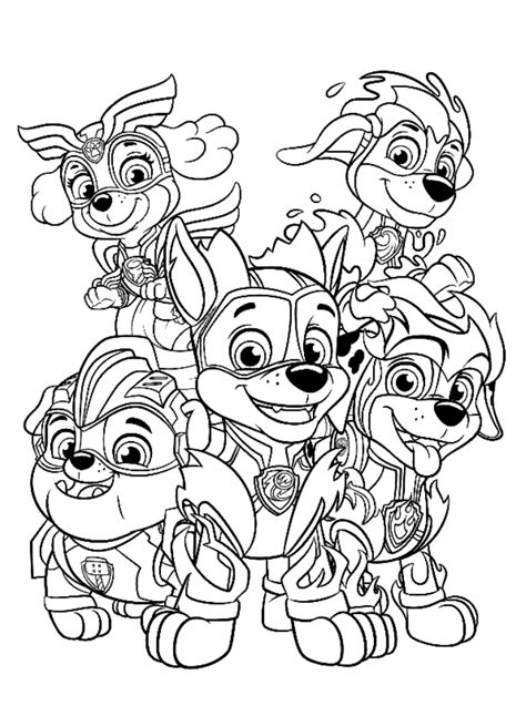 Paw Patrol Coloring Page Kids N Fun #Coloring in 2020