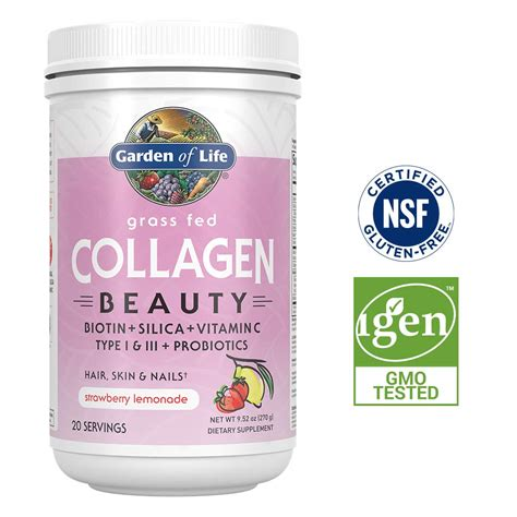 Garden Of Hair Skin Nails by Garden Of Grass Fed Collagen Peptides For