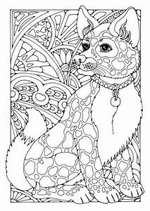 Coloring Page Dog Adult Colouring Therapy Pinterest