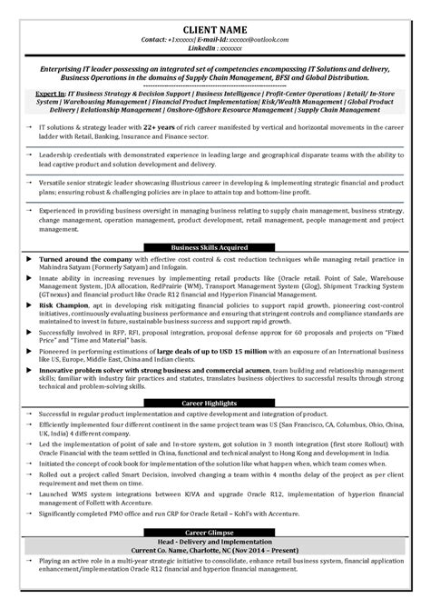 leadership sr management c level c suite resume