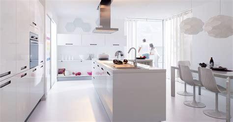 cuisines blanches en photos les plus belles cuisines blanches la cuisine