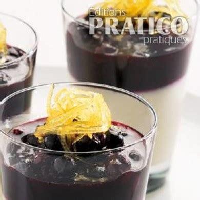 panna cotta hervé cuisine panna cotta aux bleuets recettes cuisine et nutrition