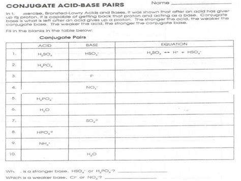 furthermore Conjugate Acid Base Pairs Worksheet Answers Unit 11 Acids and Bases further Conjugate Acid Base Pairs Worksheet Naming Acids and Bases Worksheet also Mathheets Grade Maths Functions Unique Biologyheet For Kids Printing also worksheet  Conjugate Acid Base Pairs Worksheet  Carlos Lomas as well Conjugate Acid Base Pairs Worksheet Answers Acids and Bases moreover Defining Acids and Bases   YouTube in addition Valid Of Conjugate Acid Base Pairs Worksheet   wp landingpages furthermore  together with Conjugate Acid Base Pair Worksheet   Free Printables Worksheet in addition Naming Acids Worksheet Naming Acids Worksheet Fronteirastral additionally Conjugate Acid Base Pairs Worksheet Conjugate Acid Base Pairs likewise worksheets  Acid Base Lab Worksheet Middle Conjugate Pairs A besides Ph and poh table worksheet as well Acid Bases Worksheet   Meningrey furthermore Conjugate Acid Base Pairs S le Problems   YouTube. on conjugate acid base pairs worksheet