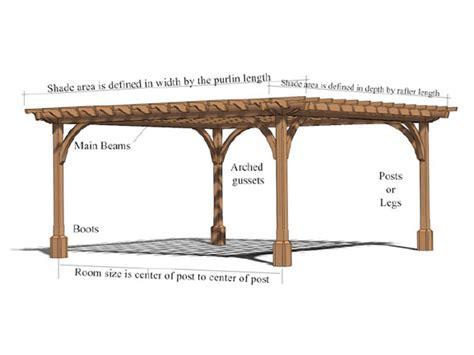 pergola size cedar pergolas and custom cedar pergola kits baldwin pergolas