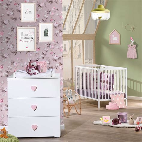 chambre bébé baby chambre bébé duo basic lit à barreaux 60x120cm blanc