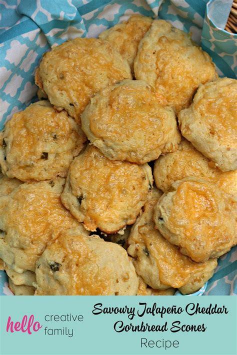 savoury jalapeno cheddar cornbread scones recipe