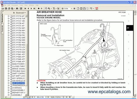infinity  series qx service manual