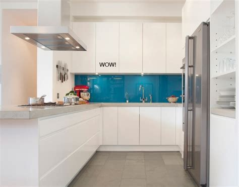 cuisine bleu une crédence bleu turquoise pour réveiller une cuisine