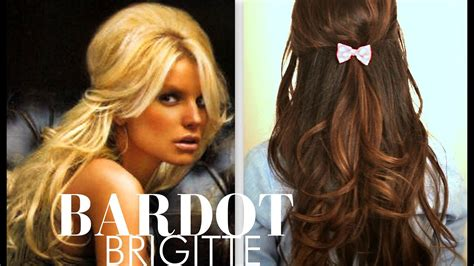 cute brigitte bardot hair tutorial everyday half up half