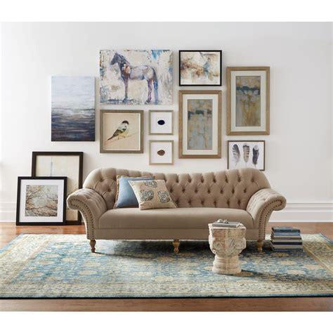 home decorators collection sofa arden dark beige linen oak