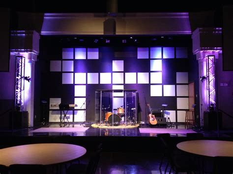 space invaders church stage design ideas