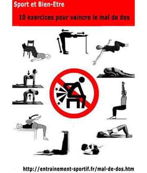 abdo au bureau mal de dos affiche des 10 exercices pour le soulager ou l