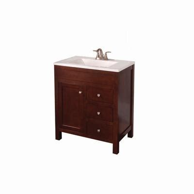 st paul wyoming 30 inch x 18 inch vanity in hazelnut