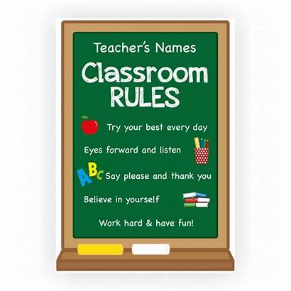 Rules Classroom Poster Teacher Custom Matte Glossy