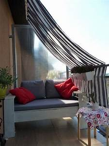 balcony privacy ideas With markise balkon mit tapete raute mint