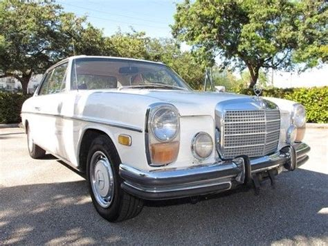 This 250c was first registered in the state of california in 1972 and the history files suggest that a change of ownership from mr. Sell used Pristine 1972 Mercedes Benz 250C Coupe- 2 Owner Car- LOW RESERVE in Pompano Beach ...