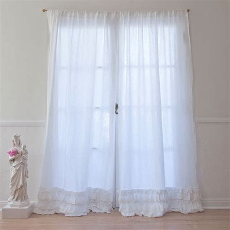 petticoat white curtain white linen drape with tiers of