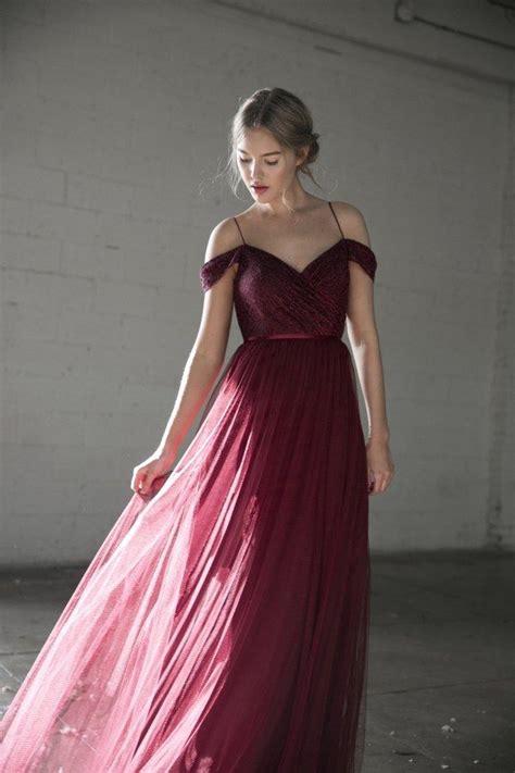 burgundy bridesmaid dresses  fall winter weddings