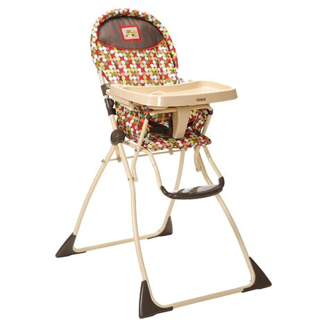 cosco slim fold high chair cosco calypso lightweight folding high chair