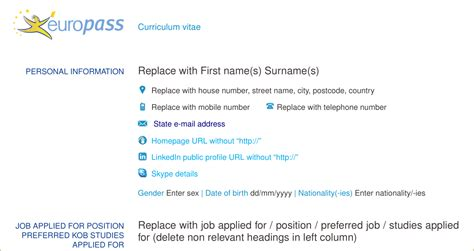 How To Put Linkedin Icon On Resume by Resume How To Add The Skype Icon In Europass Cv Tex