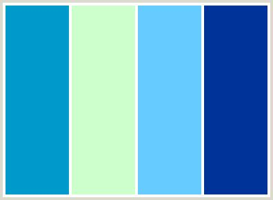 colors that go with light blue colorcombo16 with hex colors 0099cc ccffcc 66ccff 003399