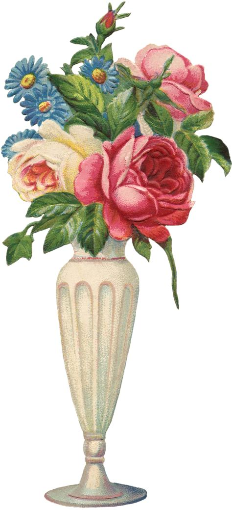 Flowers For Vase by Vintage Flowers Vase Image The Graphics