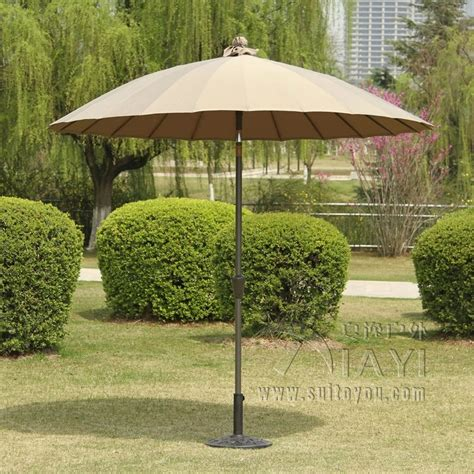 2 5 meter 24k steel iron ribs patio sun umbrella garden