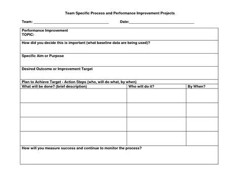 Process improvement template word costumepartyrun best photos of process improvement action plan template maxwellsz