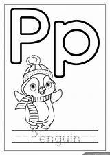 Coloring Alphabet Pages Penguin Letter Letters Abc Pdf Englishforkidz Owl sketch template