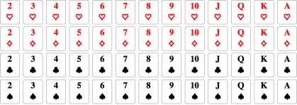How Many Hearts Are In A Deck by Standard Deck Of 52 Playing Cards In Curated Data