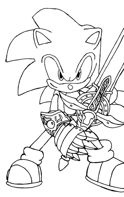 sonic  werehog coloring pages  print