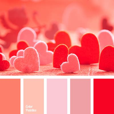 valentines day colors and orange page 2 of 6 color palette ideas